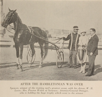 Spencer after winning Hambletonian in 1928